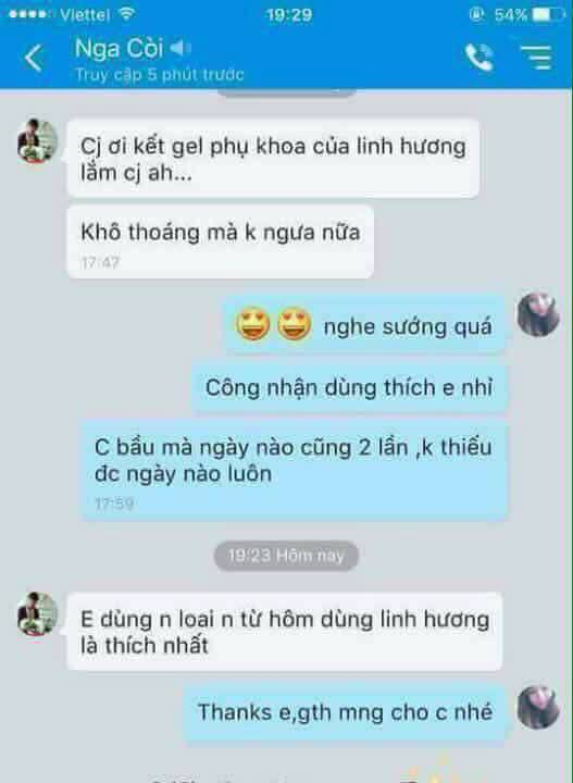 review dung dich ve sinh ladycare linh huong